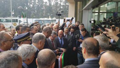 تدشين محطة سيدي رزين الجزائر 21 فبراير 2019 من طرف عبد المؤمن ولد قدور