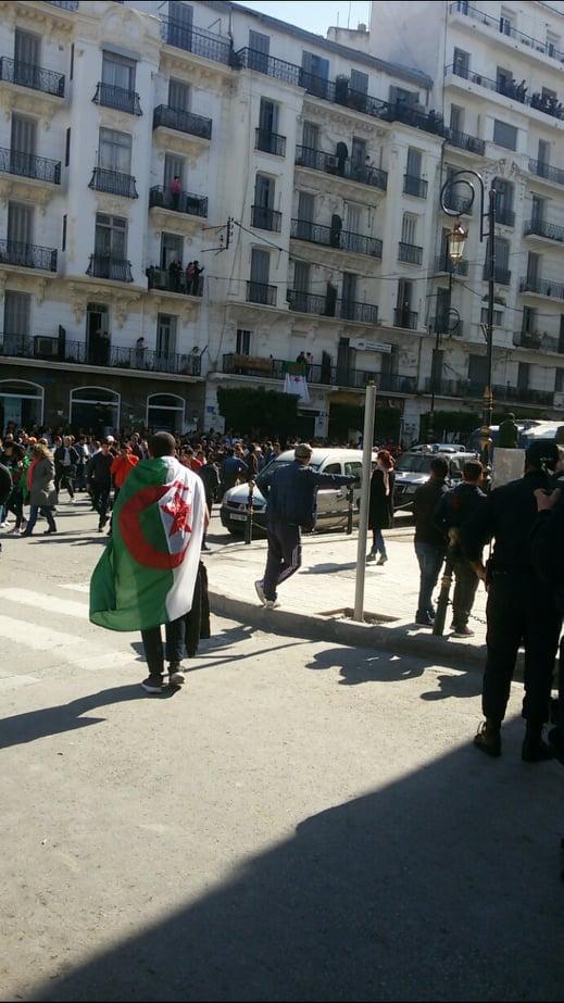 مسيرات بالعاصمة الجزائر ضد العهدة الخامسة