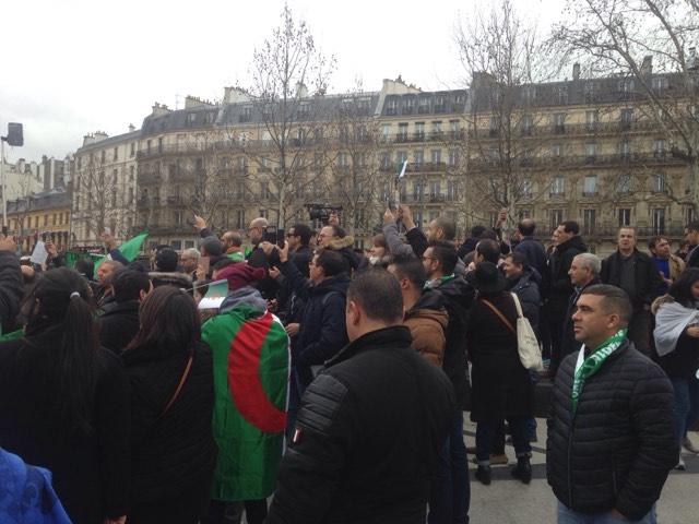 الجالية الجزائرية تتظاهر ضد العهدة الخامسة 3 مارس 2019 - صور الجزائر اليوم